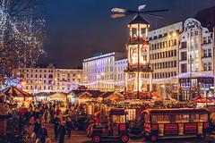 Merry Christmas from Poznan! (przemyslawkrzyszczuk) Tags: xmas christmas merry merrychristmas wesolych swiat poznan poland polska posen wolnosci plac placwolnosci jarmark bozonarodzeniowy 2016 jarmarkbozonarodzeniowy wino grzaniec train ciuchcia orange blue night city street lights citylights swiatla miasta choinka tree people ludzie