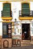 Souvenir shop in Ronda, Spain (Randy Durrum) Tags: ronda spain eu europe souvenirs fans ceramics window shades grils andalucia nik photosho photoshop durrum samsung s6