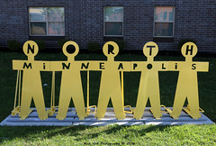 North Minneapolis (Rick & Bart) Tags: minneapolis mpls minnesota north usa city urban sign metal yellow twincities rickvink rickbart canon eos70d
