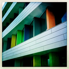 [Biblion] (pienw) Tags: biblionbuilding zoetermeerliagarchitects lines colors hipstamatic