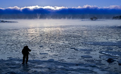 _D1I5051 (Samuli Koukku) Tags: sea seasmoke balticsea water weather sunrise north finland helsinki lauttasaari artic blue winter photographer ice canon 1dx2 70200 landscape seascape