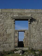 Door to door (shaggy359) Tags: lundy house door doors doorway doorways ruin ruined through lintel wall