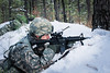 NJ Army National Guard conducts assault training in the snow (New Jersey National Guard) Tags: usa usarmy usarmynationalguard nationalguard armynationalguard soldier soldiers jointbasemdl jointbasemcguiredixlakehurst nj newjersey armedforces military training m4 m240b weapon machinegun rifle tactical cover range smoke woods snow 1114infantry infantry squad platoon