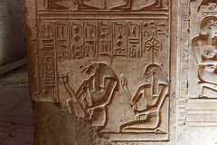 Relief of Thoth and Seshat (Chris Irie) Tags: thoth seshat relief egypt temple seti abydos