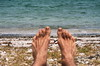 Beach feet (Occasionally Focused) Tags: feet beach selfie selfportrait smcpda50200mmf456ed smcpentaxda50200mmf456edwr