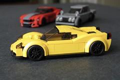 Ferrari 458 (wip, ex-BrickMonkey City Scale) (// PROTOTYP) Tags: lego cityscale speedchampions ferrari 458 sixwide racer car vehicle