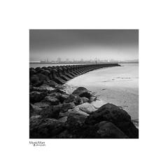 The Breaker (steveowen528) Tags: fineart landscape merseyside water mono moody liverpool sea beach wirral breaker blackandwhite rocks seascape groyne coast uk newbrighton