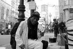 """Bucketman"" Larry Hunt (ARKPX) Tags: bucket man bucketman sf sanfrancisco street streetphotography streetportrait portrait life people 23mm 35mm fujix100 blackandwhite monochrome california musician streetscenes everydaylife art love perspective"