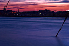 Anchored (Cederquist Christoffer) Tags: sunsetmagic sunset sunlight sunglow water harbour longexposure anchor crane sky skyline waterscape cityscape urban moody gothenburg sweden göteborg sverige götaälv