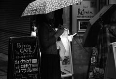 Shinjuku, Japan (hiro.nk) Tags: street leica bw white black film monochrome rain japan tokyo shinjuku kodak trix 400tx 90mm elmar f40 leitz 9cm