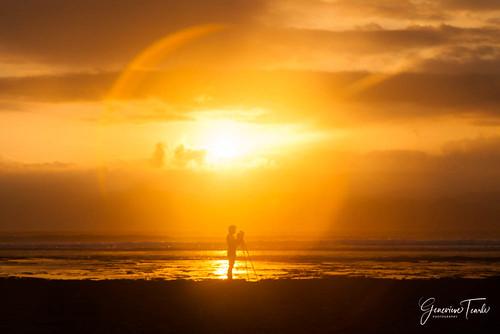 A photographer and the sunset, Lakey Peak beach, Hu'u, Sumbawa Island, Indonesia (August 2015)