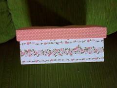 Caixa Romântica (Artices da Zappa - Artesanatos feitos com Amor.) Tags: caixa mdf tecido algodão multiuso encapada