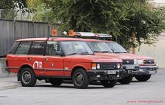 Range Rover Classic y Toyota Land Cruiser. Bomberos de Madrid (juanemergencias) Tags: