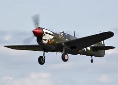 P-40 Warhawk (Bernie Condon) Tags: plane vintage flying fighter display aircraft aviation military airshow planes ww2 preserved bomber kittyhawk curtis warplane dunsfold tomahawk p40 2015 warhawk usaaf wingswheels