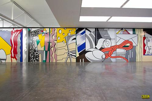 Completed Painting Roy Lichtenstein mural