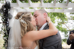 Wedding - ceremony (Katherine Ridgley) Tags: family wedding summer people love nature beautiful outside bride kiss outdoor hamilton ceremony firstkiss weddingphotography kissthebride dundurncastle