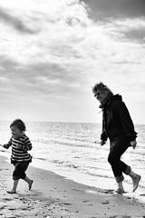On the beach in October (Benn Gunn Baker) Tags: beach wales train canon baker north snowdonia benn gunn bethan fairbourne dolgellau atia