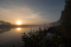 A Misty River Bann (Glenn Cartmill) Tags: uk morning autumn ireland sky mist reflection fall misty sunrise canon river eos october unitedkingdom walk glenn northernireland sunreflection portadown 2015 riverbann countyarmagh cartmill 650d