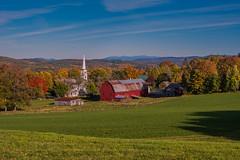 new hampshire, vermont 2015 560.jpg (jlucierphoto) Tags: new autumn red england mountains fall church barn nikon vermont churches steeple foliage peacham d7100