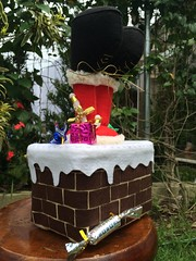 Pote de natal (Pina & Ju) Tags: natal handmade artesanato feltro patchwork papainoel decoração pote tecido enfeite reaproveitamento
