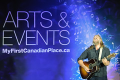 The White Buffalo, FCP Toronto (Richard Wintle) Tags: musician music toronto ontario canada downtown guitar financialdistrict singer brookfield onstage guitarist songwriter fcp firstcanadianplace jakesmith thewhitebuffalo waterfallstage artsbrookfield