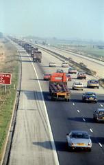 Miners Strike June 1984 Truck Convoy M18 (4) (asdofdsa) Tags: transport 1984 trucks coal pentaxmesuper convoy policeescort minersstrike