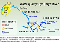 Water quality: Syr Darya River (Zoi Environment Network) Tags: sea lake water ecology river high map quality low basin pollution level environment geography upstream uzbekistan centralasia kazakhstan kyrgyzstan aral downstream moderate hydrology naryn moneca syrdarya