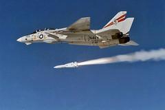 VF-201 F-14A Tomcat BuNo 162709 (skyhawkpc) Tags: airplane 1987 aircraft aviation navy naval usnavy usn tomcat grumman f14a 162709 af103 aim54phoenix vf201hunters