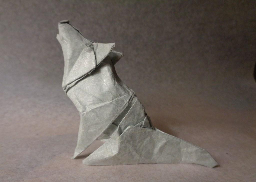 Lobo Mrmicawer Tags Origami Wolf Papel Papiroflexia Howl Depredador Aullido