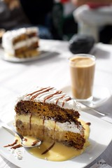 Carrot cake (Kym.) Tags: coffee cake spain sweets andalusia goodies carrotcake andalucia acebuchal somebodyelseskitchen cafeconleche