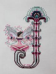 "Nora Corbett ""J"" (sticksuse) Tags: noracorbett crossstitch j kreuzstich fairy"