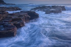 Water Textures (Paul Hollins) Tags: aus australia newsouthwales swanseaheads nikond750 nikon1635mmf4 seascape rocks chalkybeach watermovement