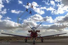 Practice To Perfection (xnir) Tags: texan t6 beechcraft displayteam aerobaticteam nirbenyosef xnir iaf israeliairforce efroni nir aviation outdoor sky clouds demoteam