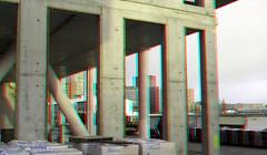 Boston & Seattle 3D (wim hoppenbrouwers) Tags: 3d bostonseattle kopvanzuid anaglyph stereo redcyan rotterdam nieuwbouw 1017 rijnhaven