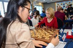 Hou Yifan v Pia Cramling (Johnchess) Tags: 29january2017 round6 tradewisegibraltarmasters