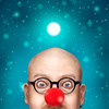 Rudolph the Red Nose (Tortured Mind) Tags: 100mmf28 11 kuopio suomi christmas cyan d800 dslr enough eyes fedup fi homestudio humour light macro nikon nose peek portrait prime red round selfportrait snow square studio surreal tokina xmas