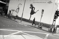 Galop (David Davidoff) Tags: people street moment monochrome motion leicam6 rangefinder ilfordfilm gallop 奔馳 run