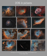 2016 Imaging montage (Sara Wager (www.swagastro.com)) Tags: telescope takahashi tak astrophotography astro astronomy astrodon astronomia astrology avalonlinearfastreverse atik cosmos cosmology constellation deepspace deepsky dso emission emissionnebula galaxy interstellar nebula narrowband nebulosity nebulae orionoptics odk10 odk mesu mesu200 sarawager swagastro space sky skies universe qsi690 qsi683 qsi