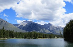Canadian Summer (Patricia Henschen) Tags: johnsonlake mountain mountains clouds rocky northern rockies canada canadian nationalpark parks parcs banff banffnationalpark alberta lake boreal forest