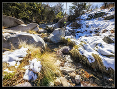 Madera Snow and Rocks