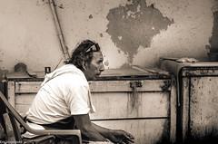 Breaktime (Eric Vogelpohl) Tags: puertovallarta street tired smoking man worker hard hardlife