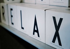 … it's the weekend (halifaxlight) Tags: iceland reykjavik boxes shelf typography letters relax bw giftshop blur