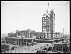 Central Railway Station under construction, Sydney NSW (State Records NSW) Tags: archives staterecordsnsw newsouthwales blackandwhite clocktower centralrailwaystation