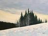 Winter Eve (Rvoelk) Tags: landscape russvoelker winterscene snow oilpainting trees pineswintersky