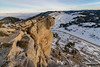 Steamboat in January (kevin-palmer) Tags: steamboatpoint bighornmountains bighornnationalforest wyoming winter january snow cold evening nikond750 tamron2470mmf28 cliffs ledge overhang highway14 road