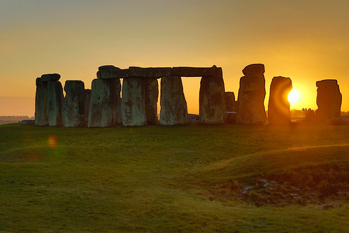 Stonehenge in Sunset in HDR