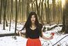 (Rei La Roca) Tags: snow asian asureshot azn red black rose skirt dress top choker longhair beauty beautiful beautifull lovely cute forest outdoor outside trees green fashion portrait portraiture love flower sunray