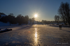 Winter Impressions II - Munich Olympic Lake (gporada) Tags: gporada lydith meyeroptik meyeroptikgörlitz munich germany münchen municholympiclake winterimpessions olympiapark sony a7ii lake frozen eisig gefroren eisfläche see landscape ngc world100f