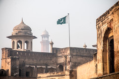 Shahi Qila with BadShahi Masjid in the background. (fatehahmad) Tags: shahi qila badshahi masjid mosque lahore pakistan