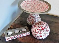 Dekoration im Hertle-Haus, Harburg (helgchenD) Tags: dekoration schale keramik